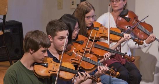 Walden students performing together