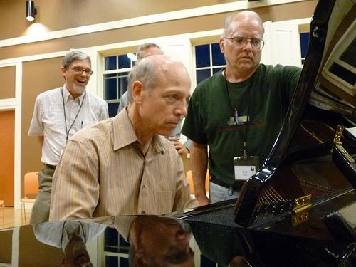 Alan Shewmon playing the piano