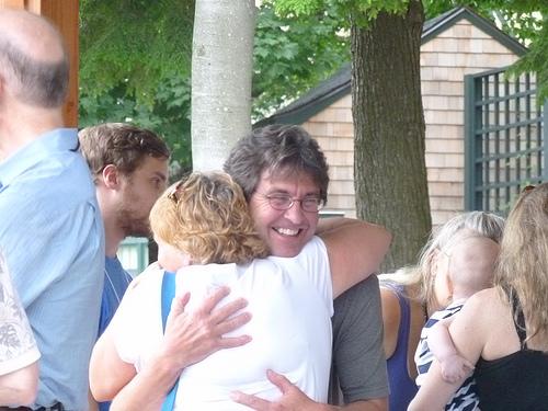 John Yankee hug