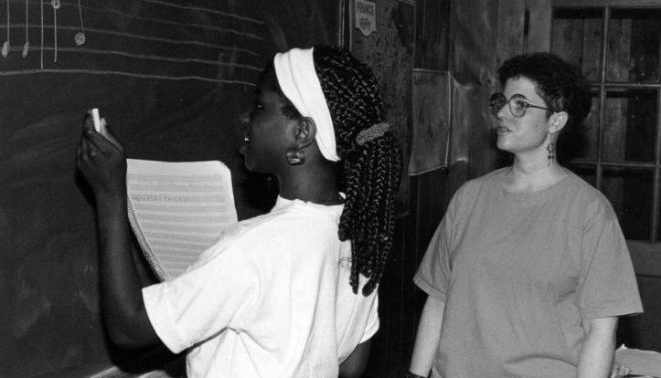 The Walden School history photo, Tamar and Shayla Cheeks, 1992