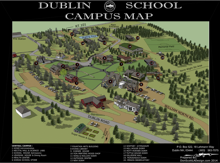 Dublin School Campus Map